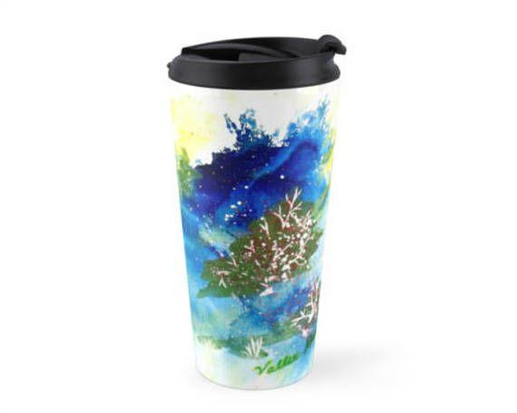 Autumn Woods Blue Art 15 Oz Mug Travel Mug To Go Coffee Mug