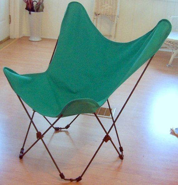 Vintage Butterfly Chair Hardoy Style Folding Patio By BuyBuyBertie,