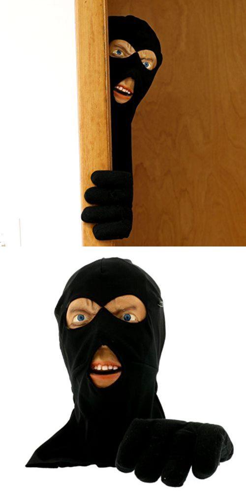 Halloween 170094 Scary Peeper Scary Intruder Door Prop Halloween - scary door decorations for halloween