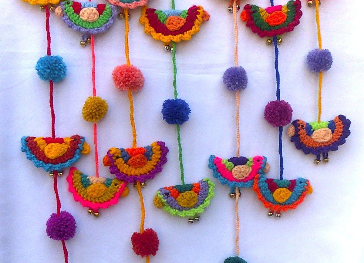 Colgantes Pajaritos al Crochet