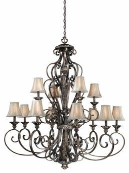 vaxcel lighting bg chs012 bellagio 12 light chandelier shown in
