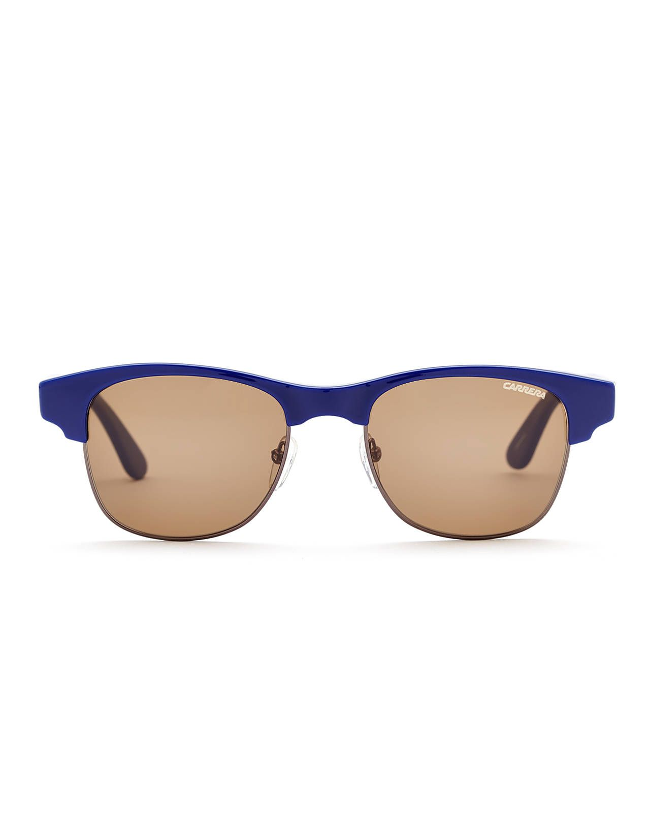 Hello, sunny day! CARRERA Blue Half-Rim Wayfarer Sunglasses are just your thing. #sunglasses #tinted #accessories #cool #beachholiday