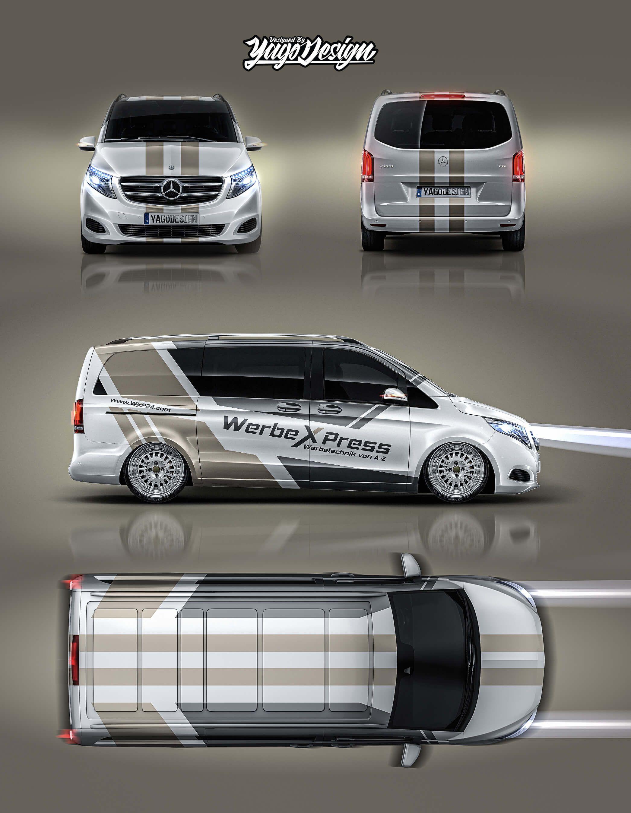 Mercedes V Class By Yagodesign Yago Design Folierung Fahrzeugfolierung Kfz Folierung