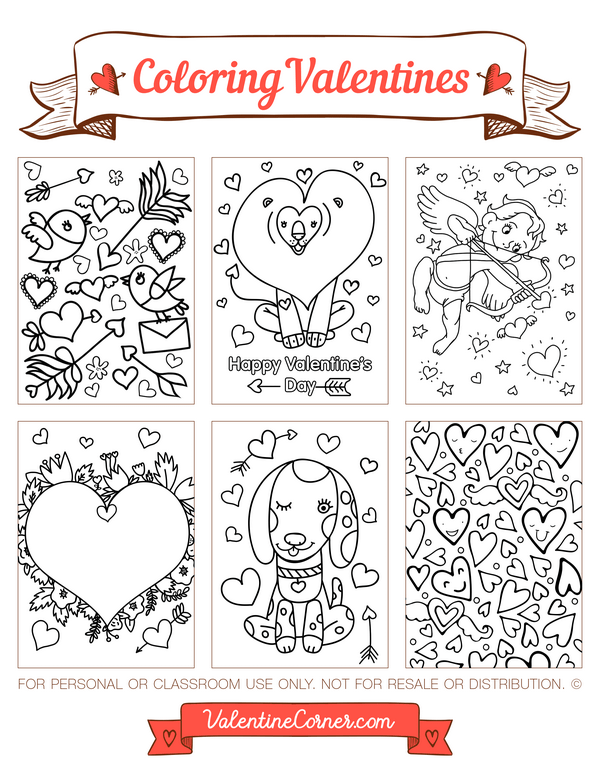 Free Printable Valentine Cards To Color Download The Valentines In Pdf F Printable Valentines Cards Free Printable Valentines Cards Valentines Printables Free