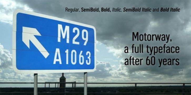 Motorway Font Download With Images Motorway British Road