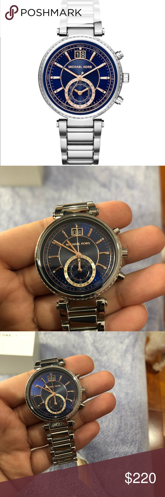 4a3f700ddc11 Michael Kors- Sawyer Blue Dial Watch MK6224 Brand new and never used Michael  Kors Sawyer