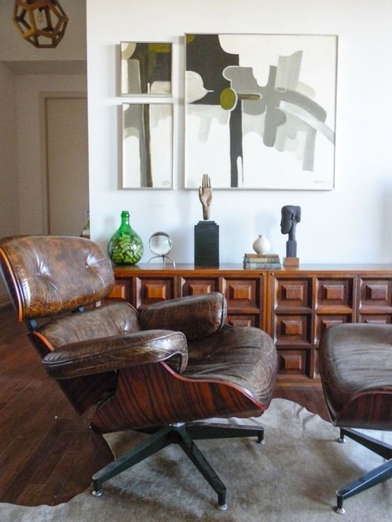 Chair Designs For Living Room Distressed Leather Eames Swivel Chair & Ottoman  Distressed