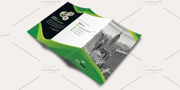 Corporate Tri-Fold Brochure Template by Alice_s on @creativemarket - free tri fold brochure templates word