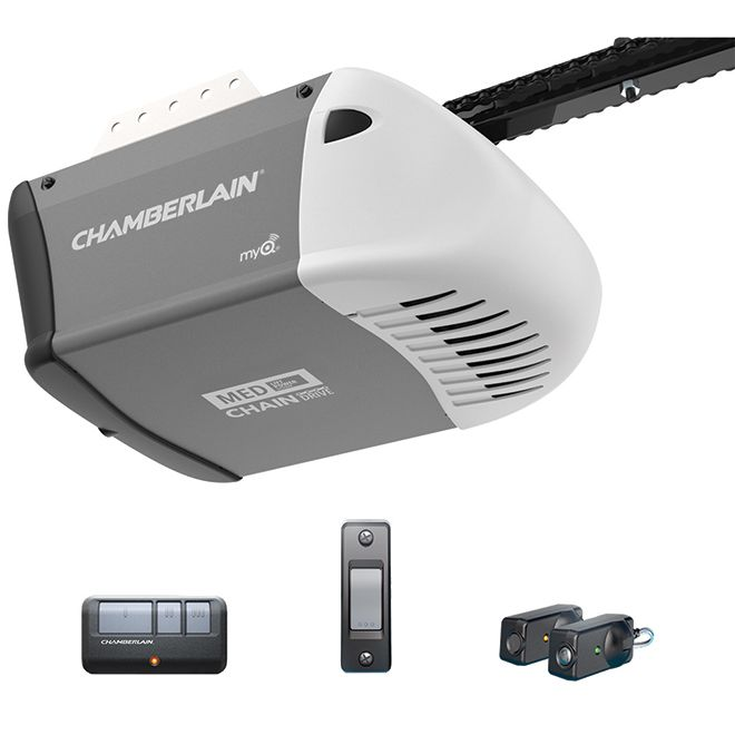 Chamberlain Garage Door Opener Chain Drive 1 2 Hp C203c Rona In 2020 With Images Garage Door Opener Chamberlain Garage Door Opener Garage Door Opener Installation
