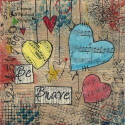 Art Journaling 101: Collage Backgrounds #artjournalmixedmediainspiration