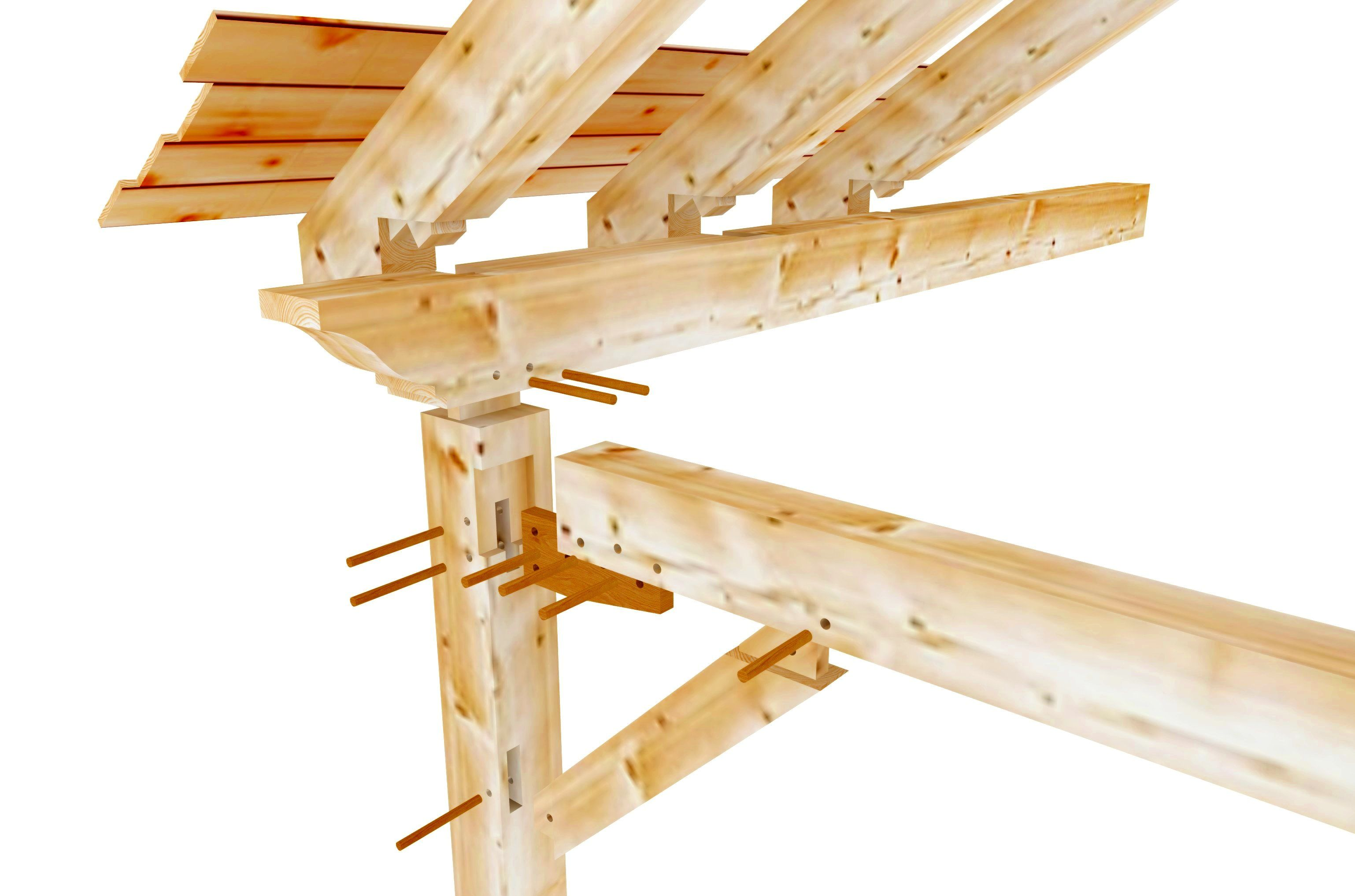 Assemblage Tenon Mortaise Timber Frame Construction Bois - Plan Charpente Toiture Bois