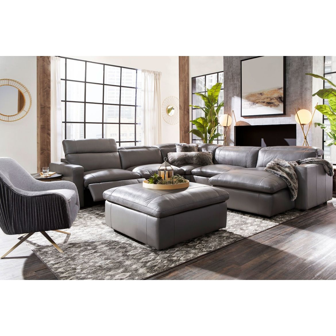 Happy 5 Piece Dual Power Reclining Sectional With Chaise And 3 Reclining Seats American Signatu Reclining Sectional Furniture Reclining Sectional With Chaise