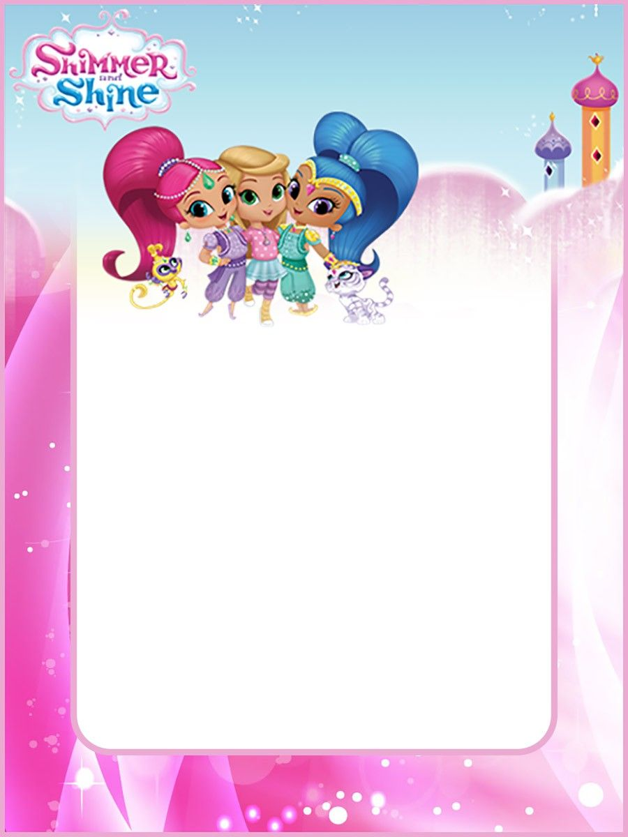 Free Shimmer And Shine Invitation Card Invitation Card Birthday Free Invitations Shimmer N Shine
