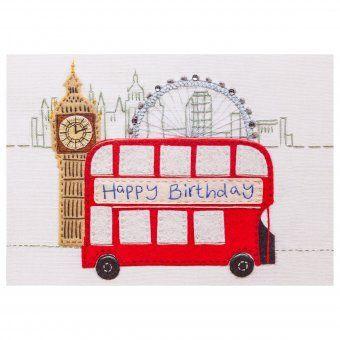Chic.mic Glückwunschkarte Happy Birthday London Bus