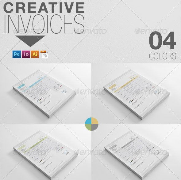 Creative invoice dengan desain modern 14 contoh invoice dengan creative invoice dengan desain modern thecheapjerseys Choice Image