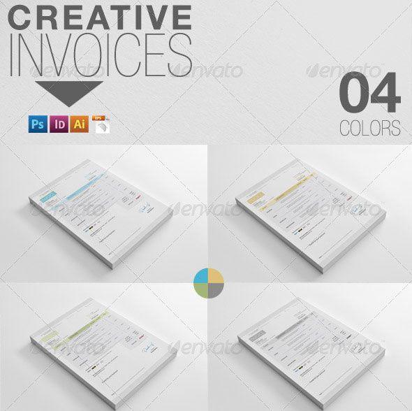 Creative Invoice dengan Desain Modern 14 Contoh Invoice dengan - print invoice