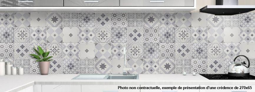 Crédence CARREAUX DE CIMENT Designcredencedecofr Idées De - Credence faience cuisine pour idees de deco de cuisine