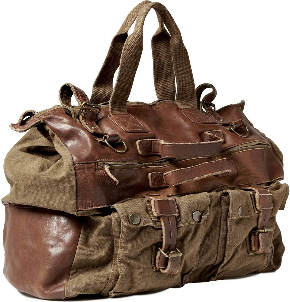 8a8a829426 Belstaff Canvas and Leather Holdall Bag, $695 | Products I Love and ...