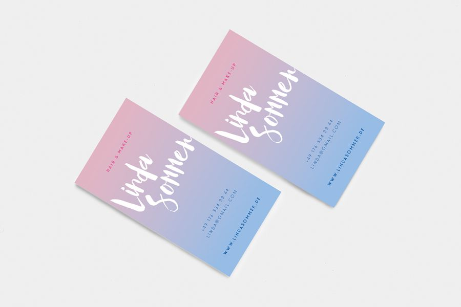 Copyright Aileen Burkhardt Punze Typografie Visitenkarte