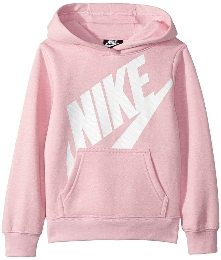 Nike Futura Fleece Pullover Hoodie (Little Kids) in 2020