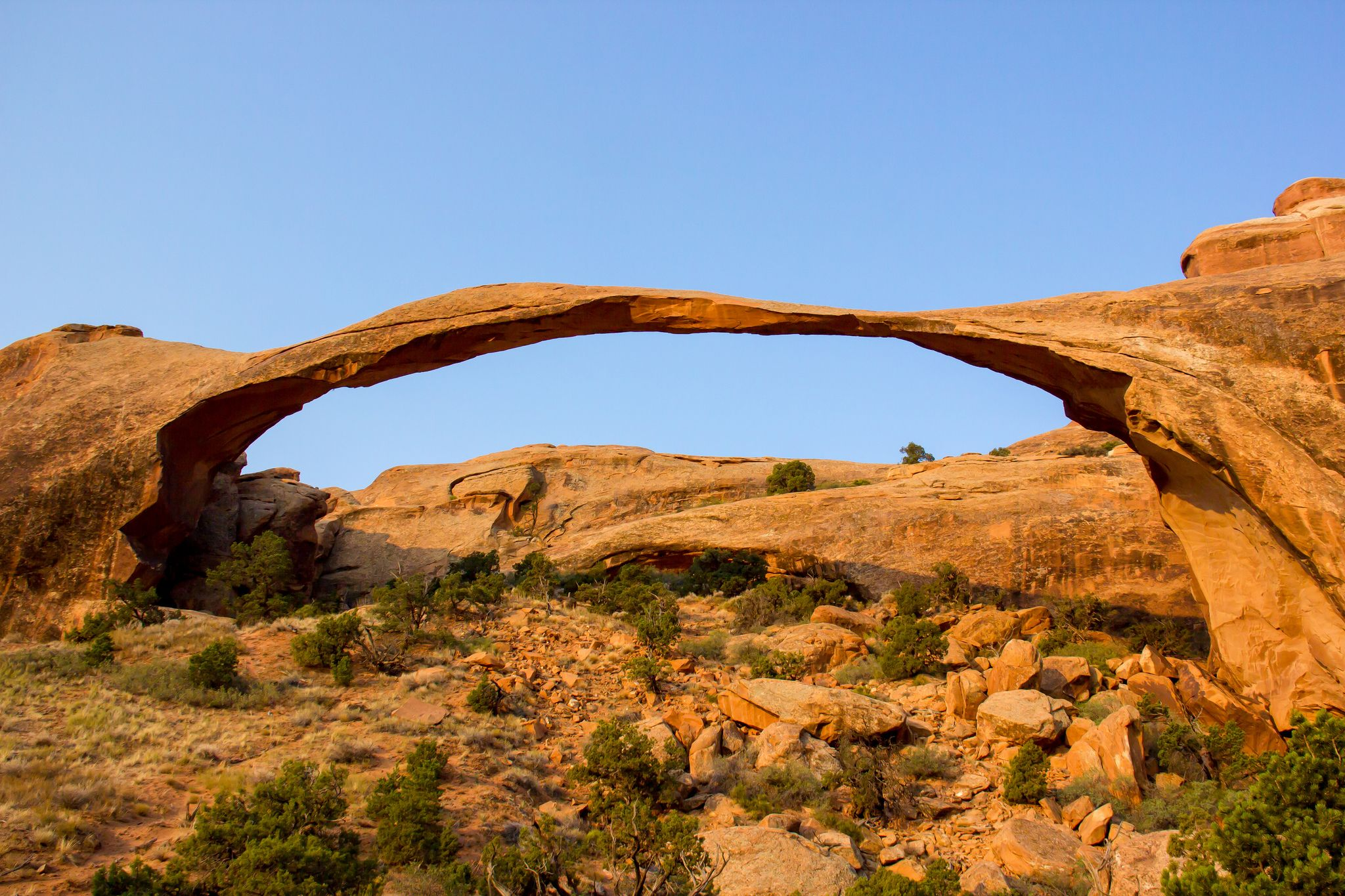 Usa Utah Arches National Park Landscape Arch and Around
