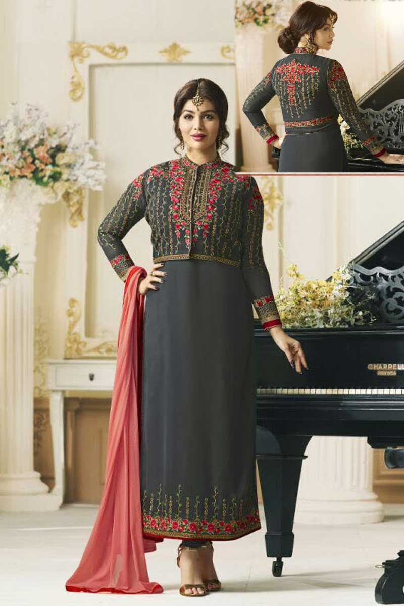 37d1247619 Dark-Grey-Heavy-Event-Wear-Designer-Salwaar-Suits-9002-4934 wholesale  salwar kameez #wholesale salwar kameej #salwar suits dealers #salwar suit  exporters ...