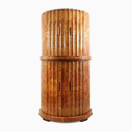 Geriffelter Cocktail Schrank aus Wurzelholz von Epstein, 1930er - schrank für wohnzimmer