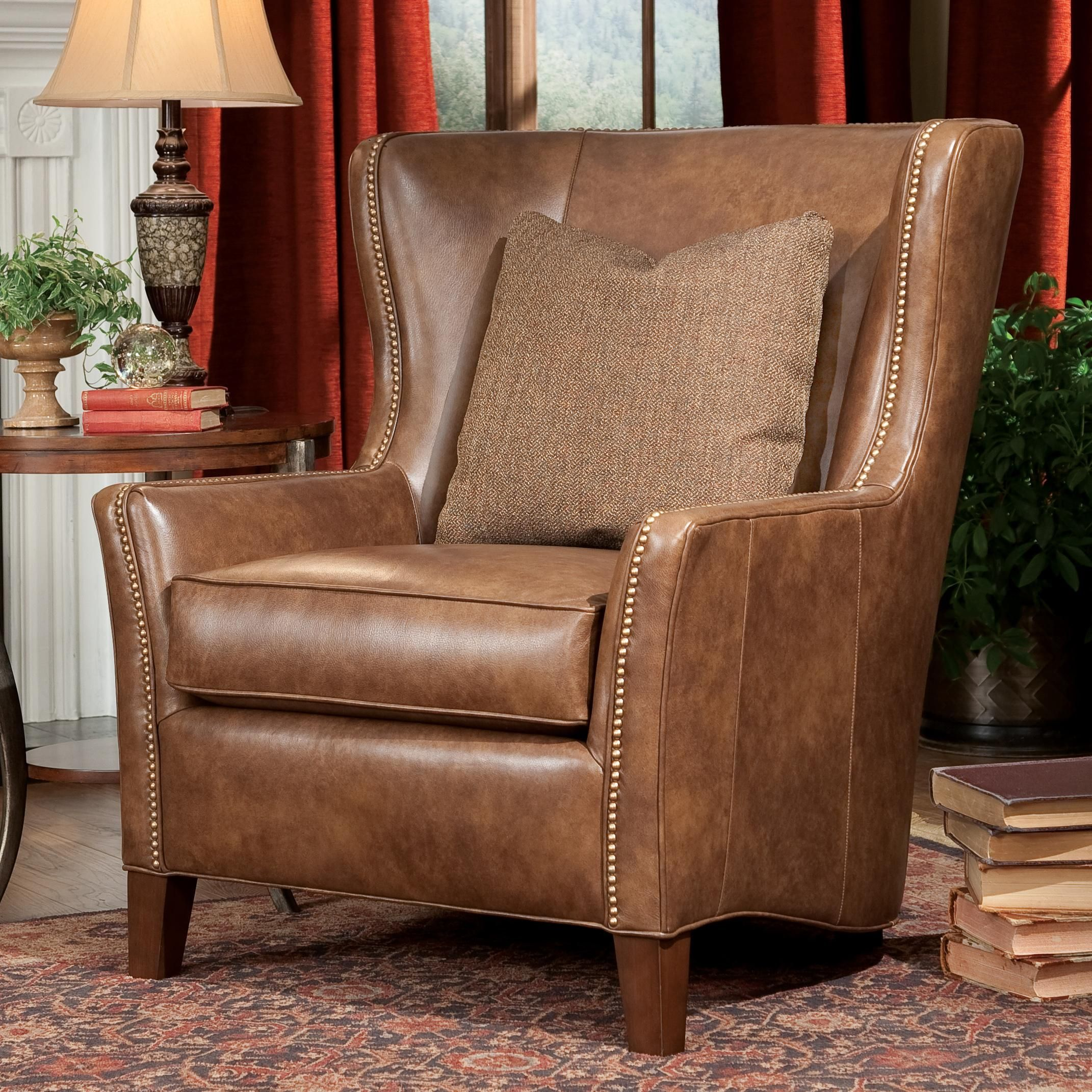 High Quality Upholstered Wingback Chair