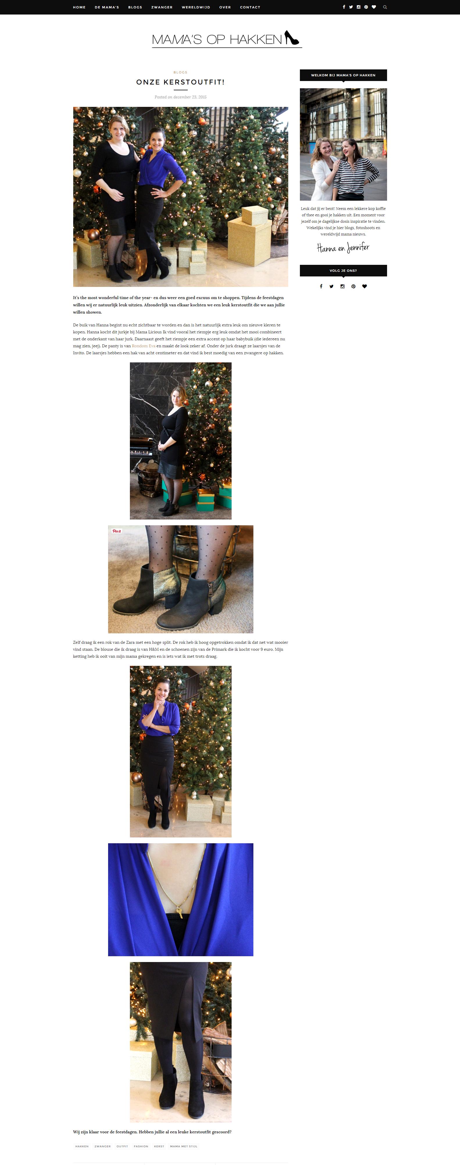 Leuk! Hanna en Jennifer van Mama's op hakken showen hun kerstoutfit en dragen daarbij de feestelijke polkadot zwangerschapspanty's van Cache Coeur.  Het artikel vind je hier: http://www.rondomeva.nl/media/mamas-op-hakken/  De zwangerschapspanty's van Cache Coeur vind je hier: http://www.rondomeva.nl/merken/cache-coeur/pantys/  Enne... like de pagina van de dames alvast even, binnenkort organiseren we samen een leuke winactie!