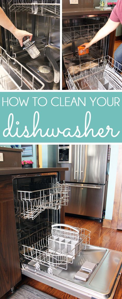 How To Clean A Dishwasher Cleaning Your Dishwasher Clean Dishwasher Cleaning Hacks