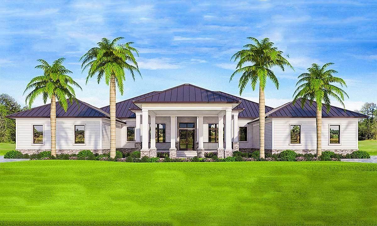Plan 86065bw Luxurious Florida House Plan Florida House Plans Florida Home Mediterranean House Plans