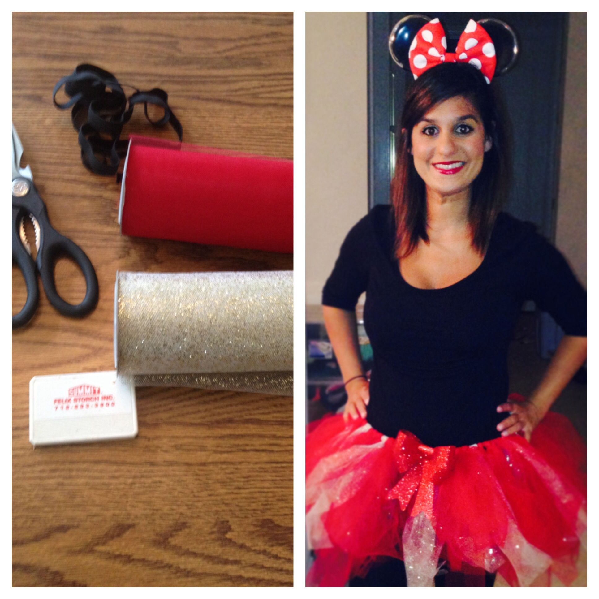 Home made tutu. Minnie Mouse. Halloween costume. Homemade ...  sc 1 st  Pinterest & Homemade Family Minnie and Mickey Mouse Halloween Costume | Coolest ...
