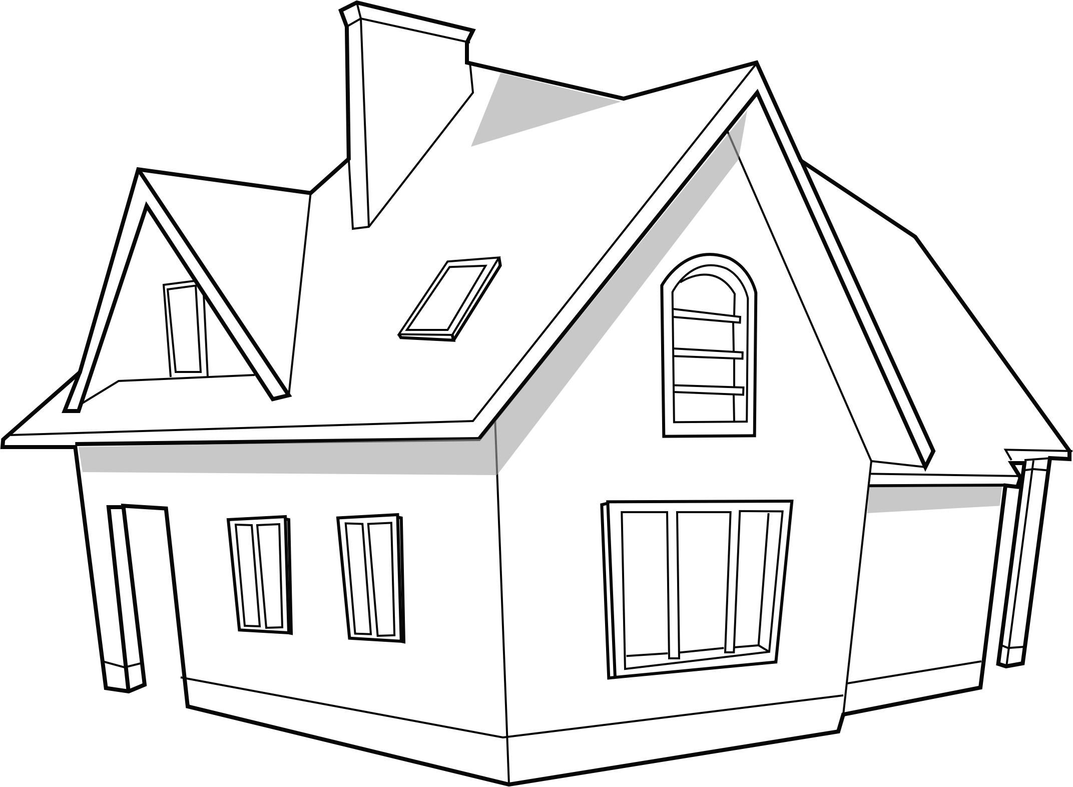 Modern house svg image for Videoscribe by scribblesvg