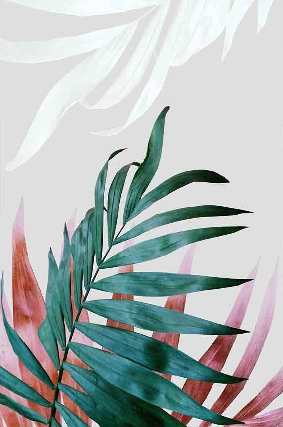 Tropical Leaves. #WallArt #ArtPrint #EtsyFinds | Design by #PrintsProject