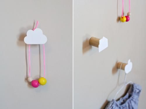 DIY Decorative Childrenu0027s Wall Hooks | Dotcoms For Moms