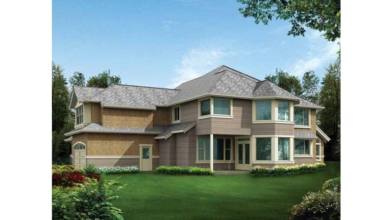 rear exterior -- Craftsman House Plan DHSW63257 (Dream Home Source)