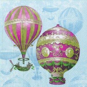 Vintage montgolfier hot air balloon