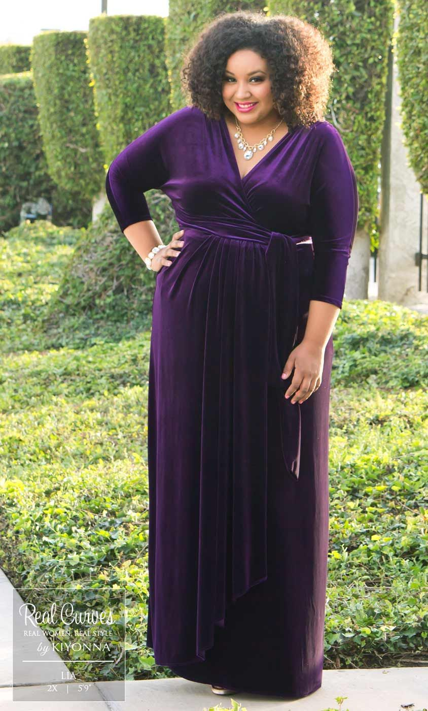 Plus Size Velvet Luxe Wrap Dress | Plus Size Fashion | Pinterest ...