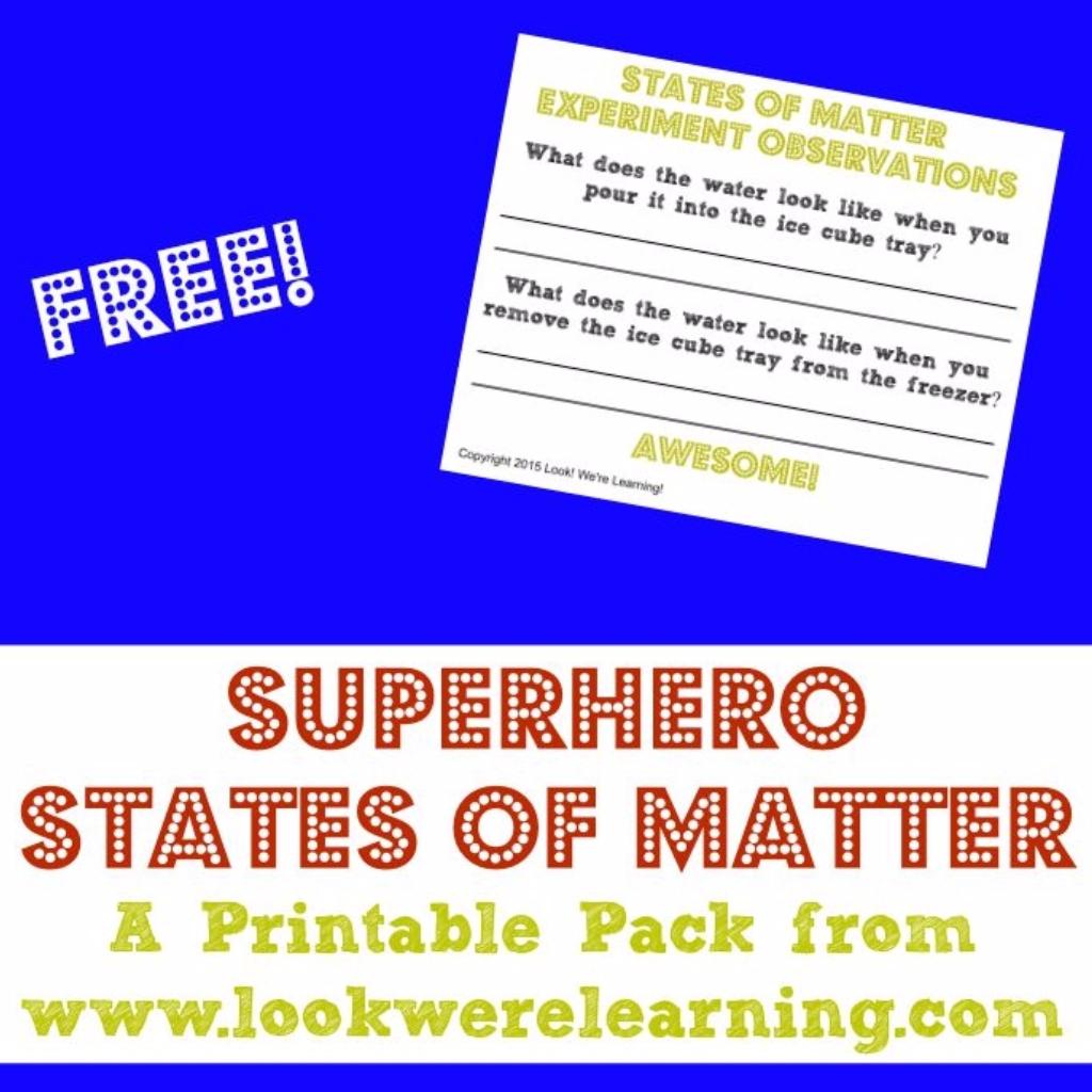 super hero states of matter for second graders bundles rh pinterest es