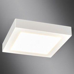 Plafonnier LED blanc Rayan carré salle de bains LAMPENWELT