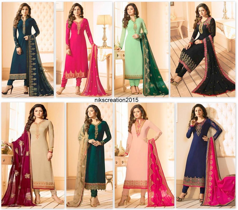 Salwar Kameez Suit Indian Pakistani Bollywood Party Wear Salwar Kameez Dress KB