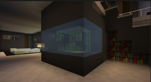 Fish Tank Minecraft Bedroom Minecraft Houses Minecraft Room