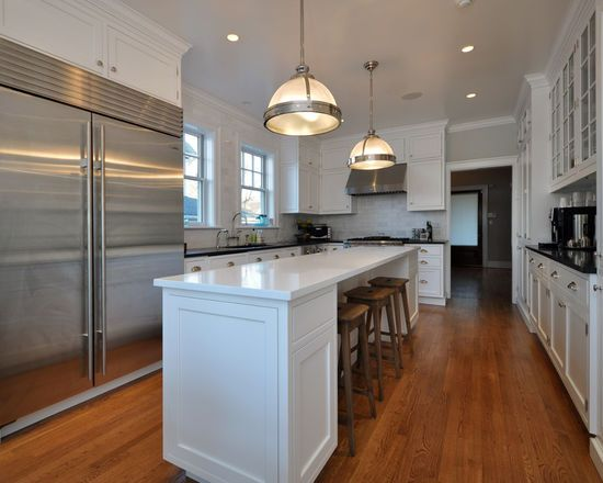 Incredible Long Narrow Kitchen Island and Long Narrow Kitchen Island Houzz #longnarrowkitchen