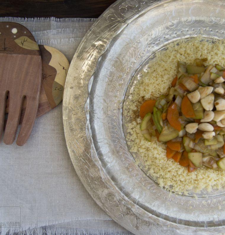 Al Calor Del Horno Wok De Verduras Con Cuscus Y Almendras