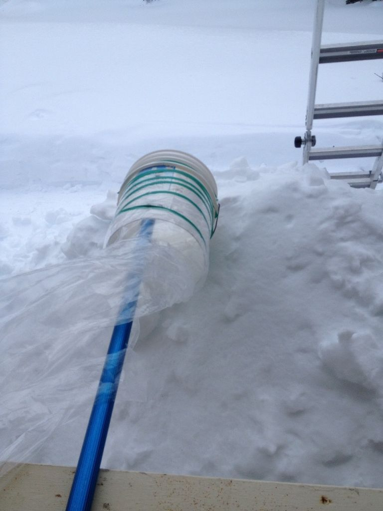 Roof Snow Rake Scooper Tool Easy Diy Using A 5 Gallon