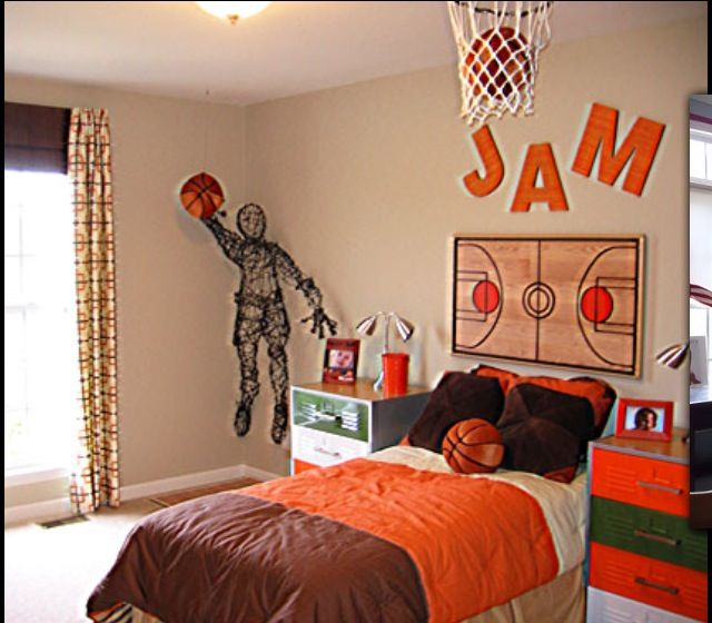 Superior The Unique Designs Sports Room Decor For Boys With The Good Concepts: Good  Picture Design Young Boys Sports Bedroom Themes Nice Basket Ball Concepts  Bedroom ...