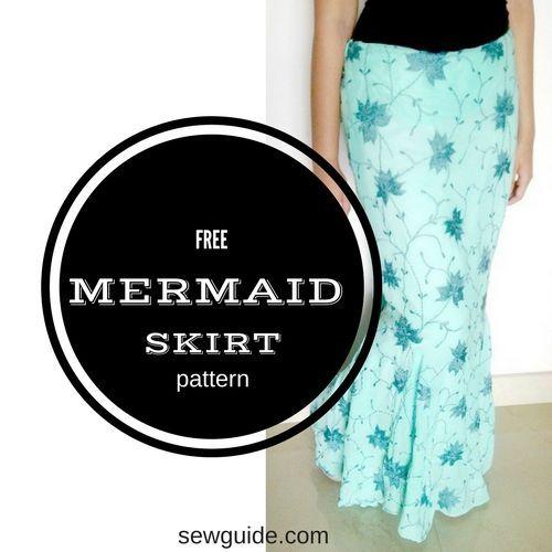 mermaid skirt pattern | Sewing | Pinterest | Rock