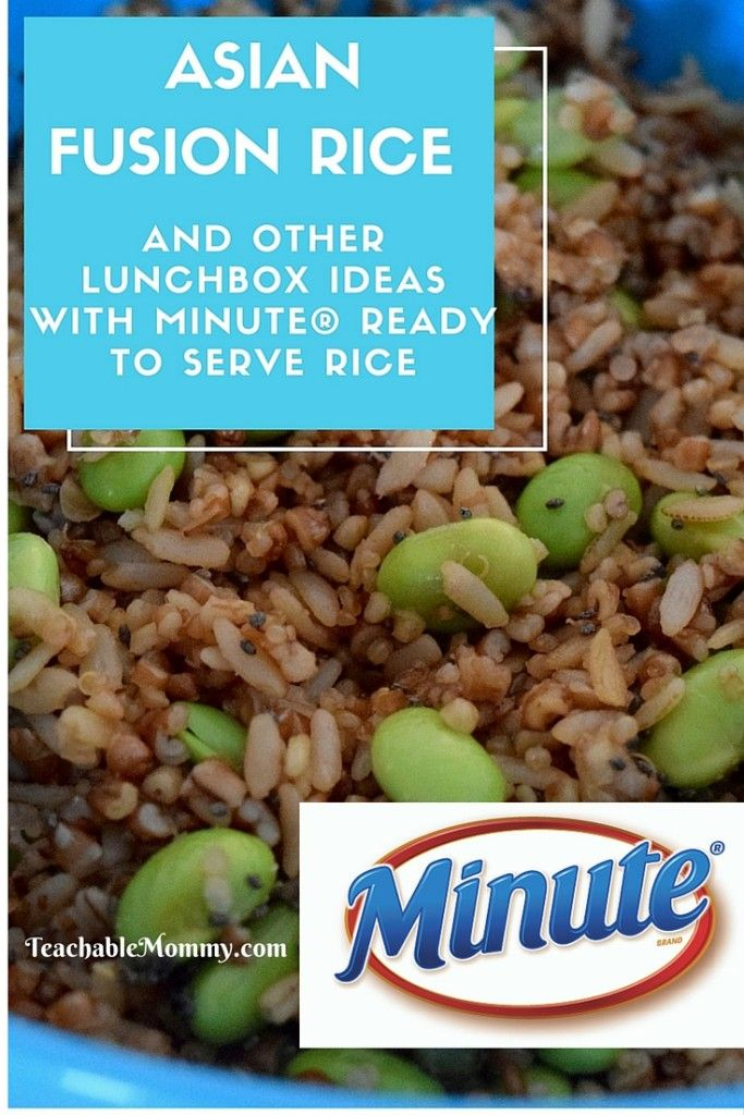 MinuteR Ready To Serve Rice Makes Packing Lunch Easy