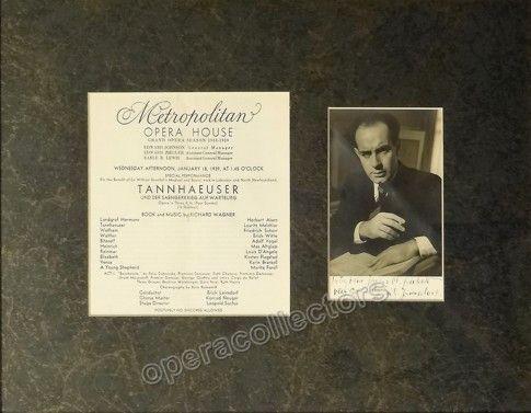 Leinsdorf, Erich - Signed Photo and Program