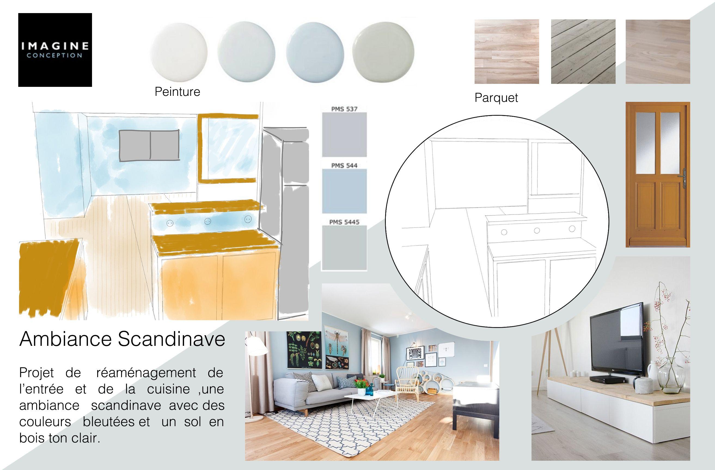 Planche tendance pour un projet d\'architecture d\'intérieur avec une ...